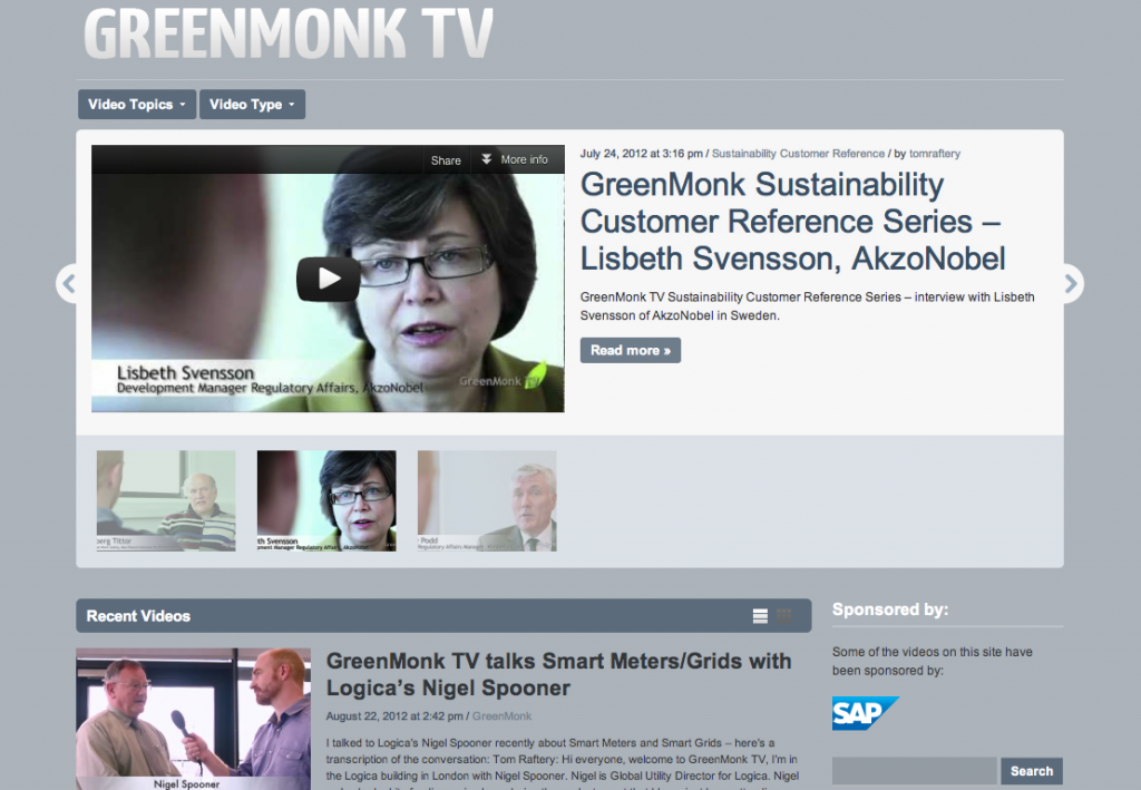 GreenMonk TV home page
